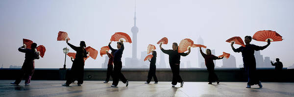 Practice Photograph - China, Shanghai, The Bund, Women by Jerry Driendl