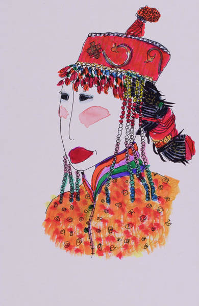 Wall Art - Painting - Chinese Beauty by Linda Spitsen