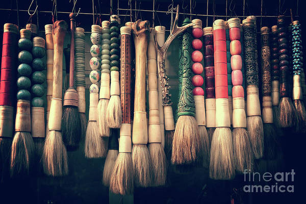 Wall Art - Photograph - Chinese Calligraphy Brushes by Delphimages Photo Creations