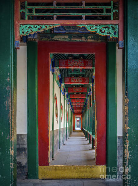 Wall Art - Photograph - Chinese Corridor by Inge Johnsson