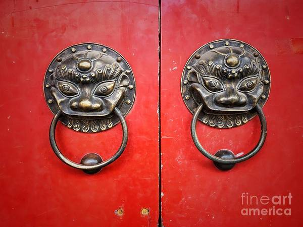 Photograph - Chinese Door Knocker by Iryna Liveoak
