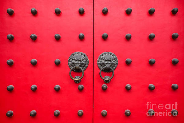 Photograph - Chinese Door Knockers.  by Iryna Liveoak