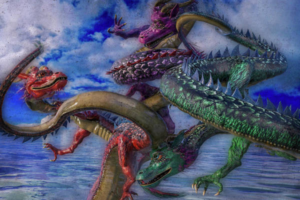 Wall Art - Digital Art - Chinese Dragons by Betsy Knapp