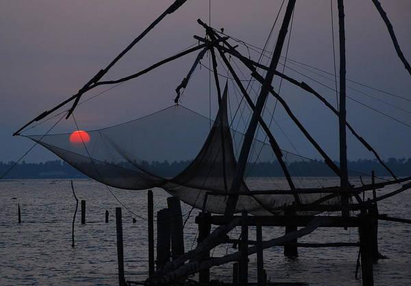 Kerala Photograph - Chinese Fishing Nets, Kerala, India by Aditi Das Patnaik