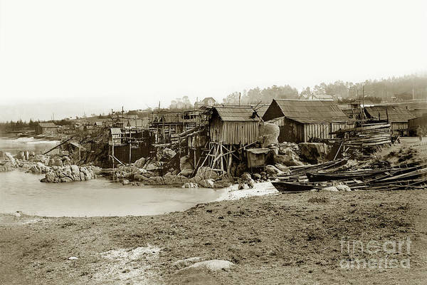 Photograph - Chinese Fishing Village Circ 1895 by California Views Archives Mr Pat Hathaway Archives