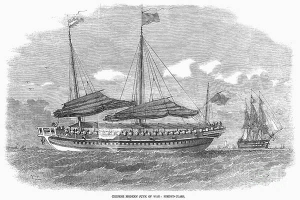Drawing - Chinese Junk Of War by Granger