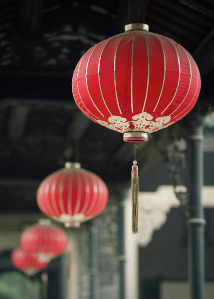 Chinese Culture Photograph - Chinese Lanterns by Dave Bowman