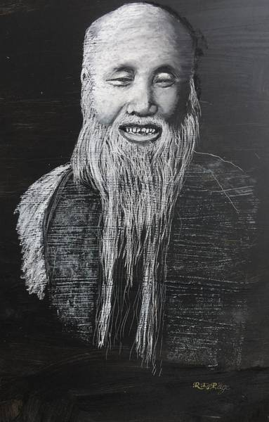 Pastel - Chinese Man 2 by Richard Le Page