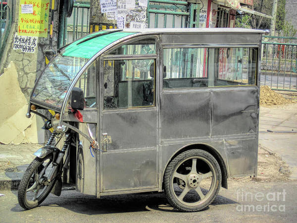 Wall Art - Photograph - Chinese Motorcycle Taxi by Elisabeth Lucas