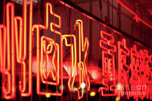 Wall Art - Photograph - Chinese Neon Sign by Delphimages Photo Creations