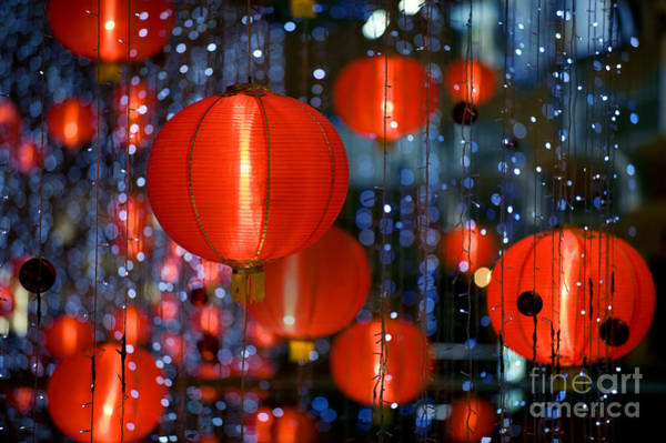 East Asia Wall Art - Photograph - Chinese Paper Lantern Shallow Depth Of by Beltsazar