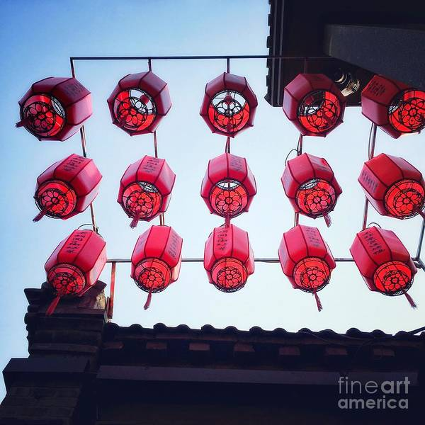 Photograph - Chinese Red Lanterns by Iryna Liveoak
