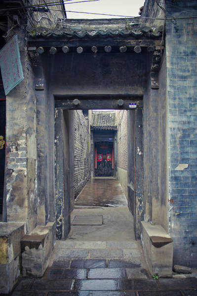 Xi Photograph - Chinese Style Old Doorway by Eastimages