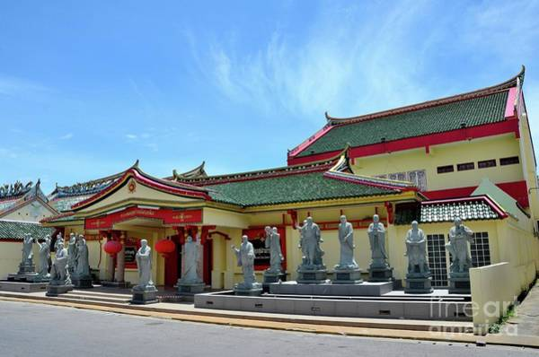 Photograph - Chinese Temple Building With Statues Of Gods And Wood Door Pattani Thailand by Imran Ahmed