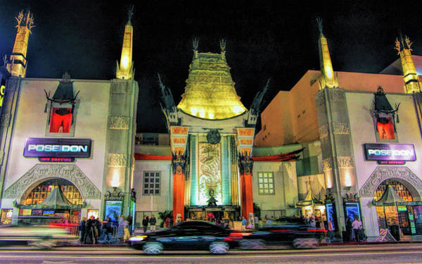 Painting - Hollywood Chinese Theatre In Los Angeles by Christopher Arndt