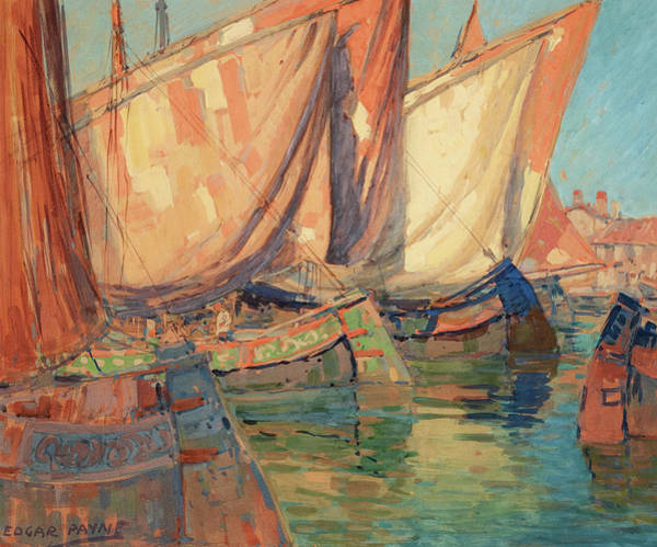 Wall Art - Painting - Chioggia Boats by Edgar Payne