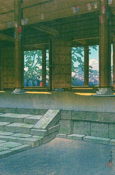 Wall Art - Painting - Chionin - Top Quality Image Edition by Kawase Hasui
