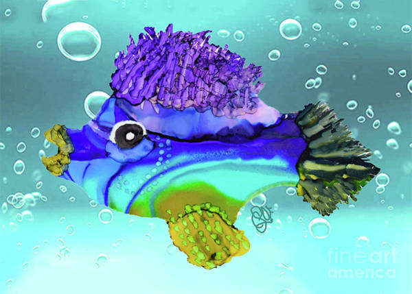 Painting - Chip Funky Fish by Christine Dekkers