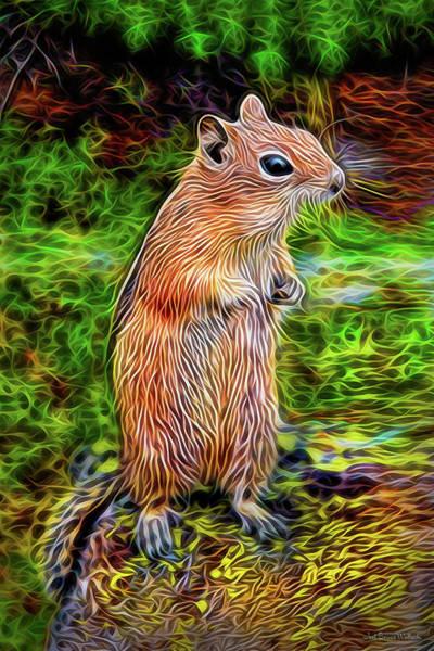 Digital Art - Chipmunk Awareness by Joel Bruce Wallach