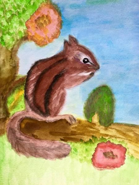 Painting - Chipmunk By Dee by Dee Elko