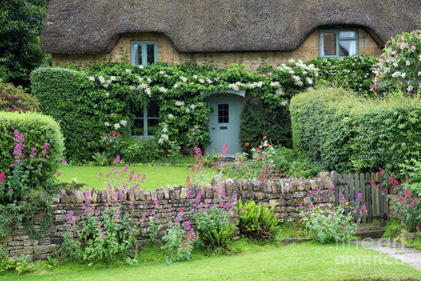 English Cottage Photograph - Chipping Campden Thatched Cottage In Summer by Tim Gainey