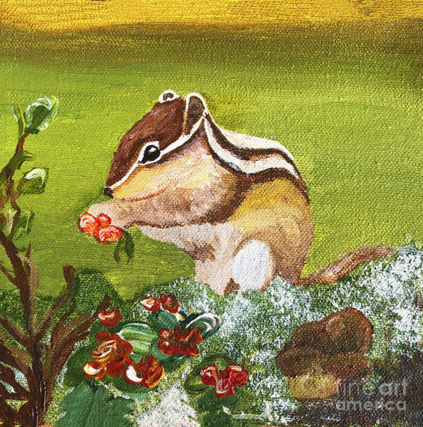 Painting - Chippy Chipmunk by Christine Dekkers