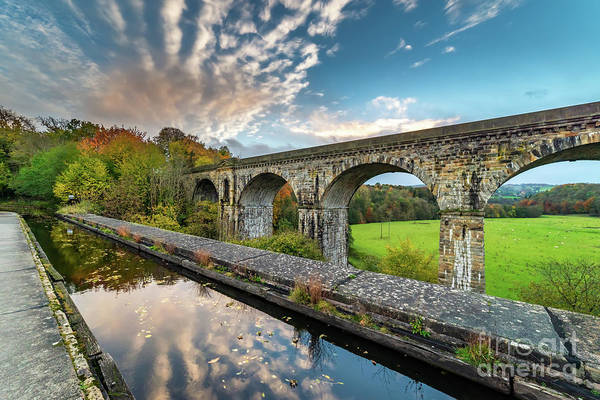 Photograph - Chirk Aqueduct And Viaduct by Adrian Evans