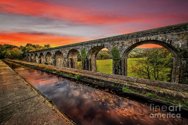 Photograph - Chirk Aqueduct Sunset by Adrian Evans