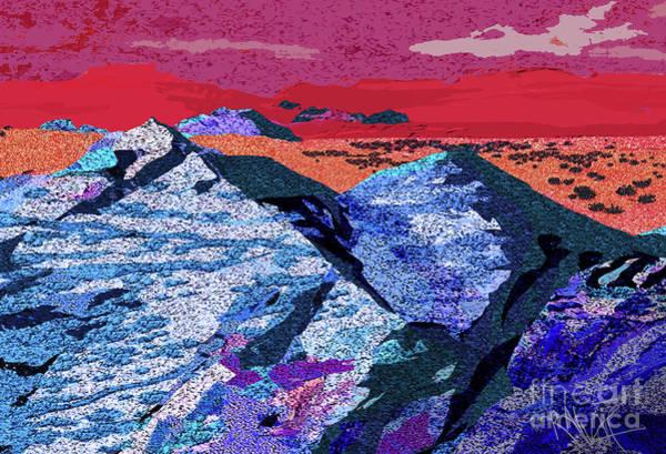 Wall Art - Digital Art - Chiseled Landscape by Raymond Alvarez