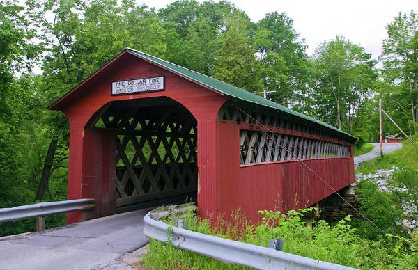 Vermont Photograph - Chiselville Bridge, Arlington, Vermont by Danita Delimont