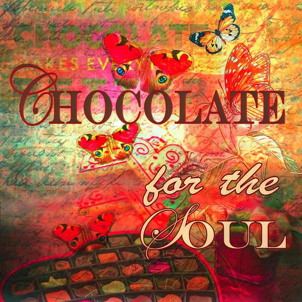 Digital Art - Chocolate For The Soul Painting by Debra and Dave Vanderlaan
