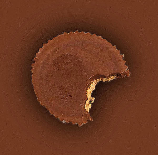 Wall Art - Painting - Chocolate Peanut Butter Cup Candy by Tony Rubino