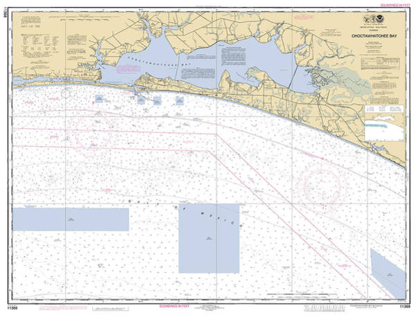 Digital Art - Choctawhatchee Bay Noaa Chart 11388 by Paul and Janice Russell