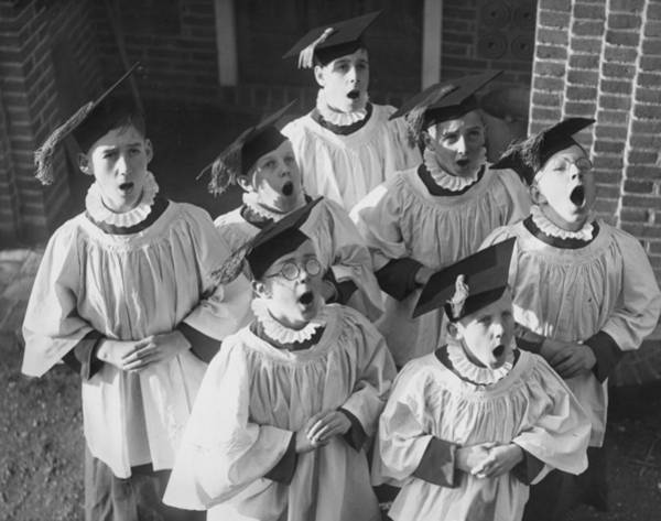 Education Photograph - Choir Boys Practice by William Vanderson