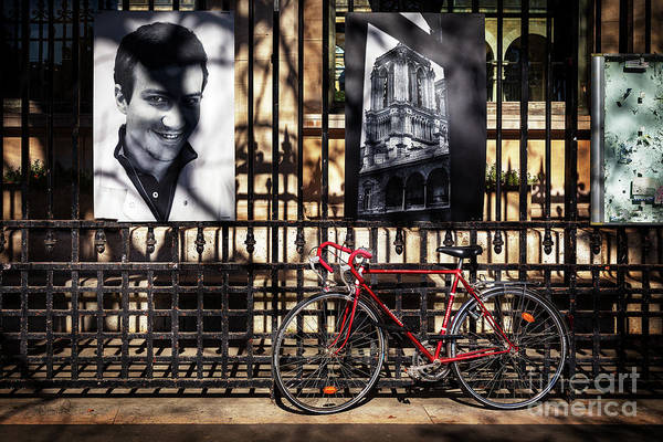 Photograph - Choir Boy's Red Bicycle by Craig J Satterlee
