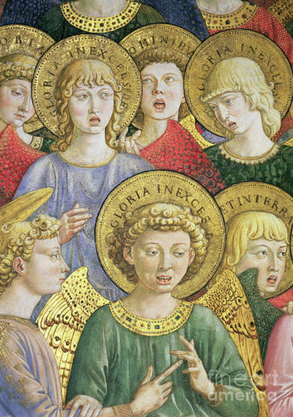 Wall Art - Painting - Choir Of Angels by Benozzo Di Lese Di Sandro Gozzoli