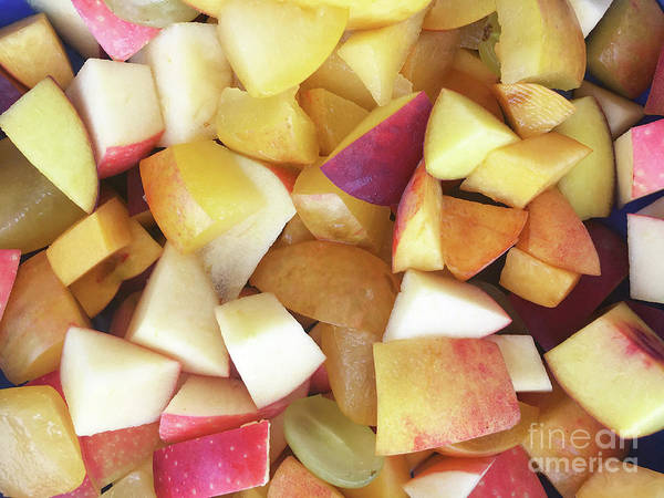 Red Delicious Apple Photograph - Chopped Apples Background by Tom Gowanlock