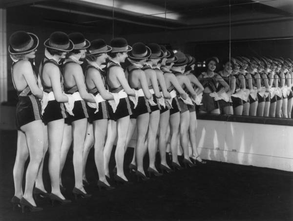 Revue Photograph - Chorus Line Reflected by Sasha