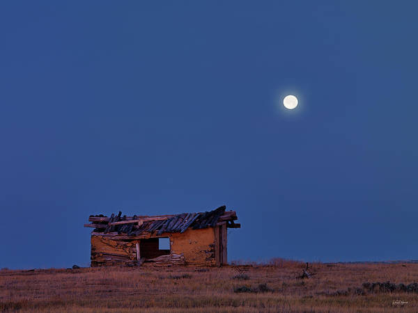 Relics Photograph - Choteau Cabin by Leland D Howard