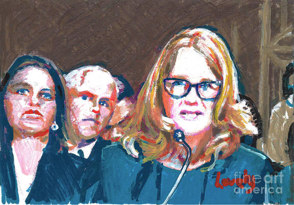 Me Too Painting - Christine Blasey Ford Testifies Before Senate by Candace Lovely