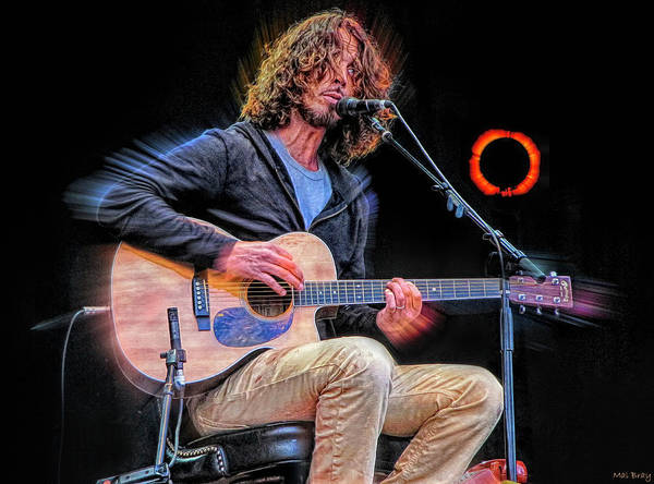 Chris Cornell Wall Art - Mixed Media - Chris Cornell Soundgarden by Mal Bray