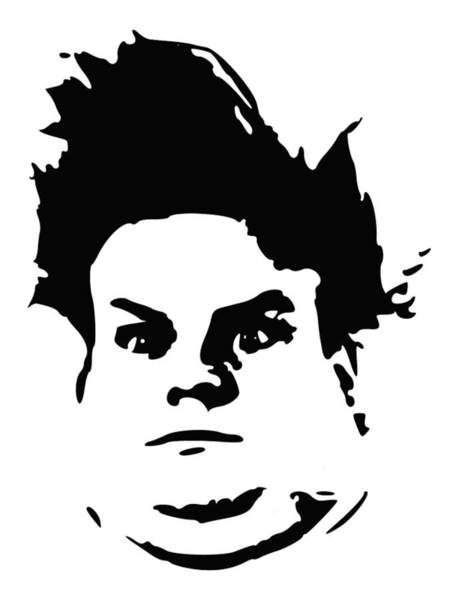 Wall Art - Digital Art - Chris Farley Minimalistic Pop Art by Filip Hellman