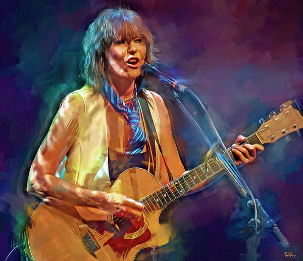 Wall Art - Mixed Media - Chrissie Hynde by Mal Bray