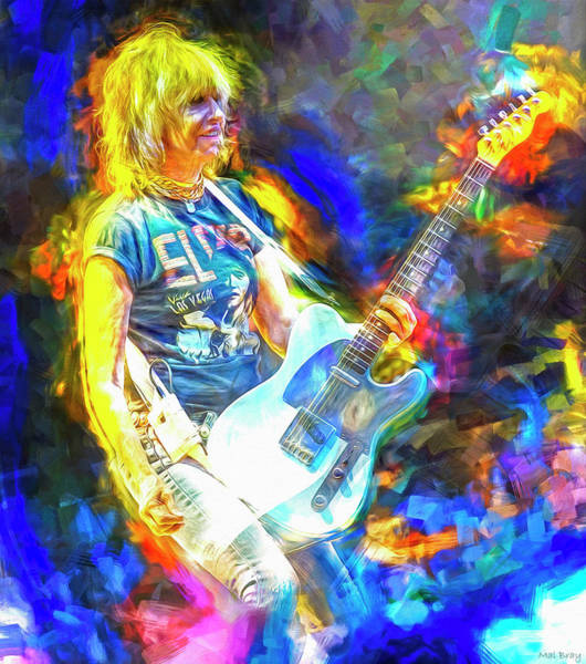 Wall Art - Mixed Media - Chrissie Hynde The Pretenders by Mal Bray