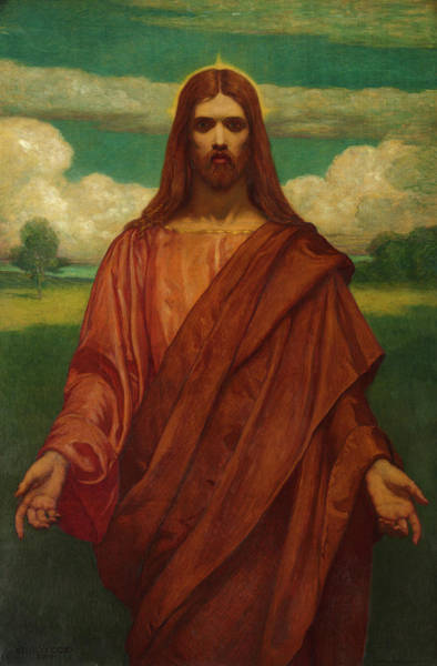 Wall Art - Painting - Christ, 1905 by Kenyon Cox