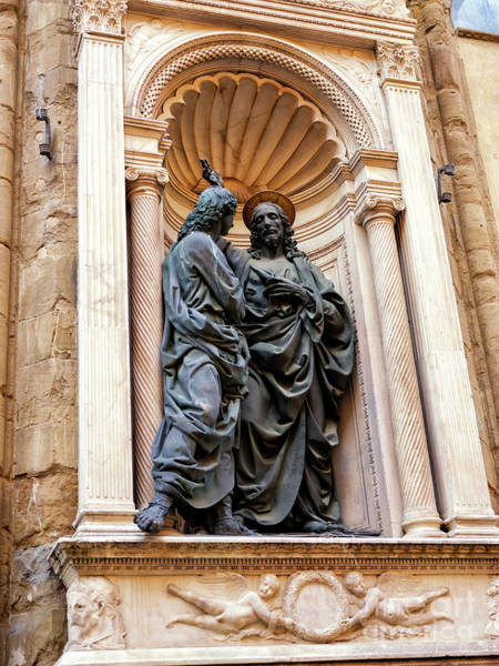 Photograph - Christ And St. Thomas At The Orsanmichele In Florence by John Rizzuto