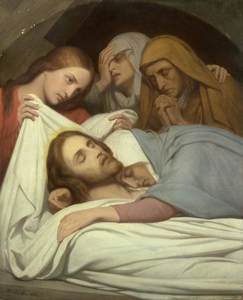 Wall Art - Painting - Christ And The Maries by Ary Scheffer