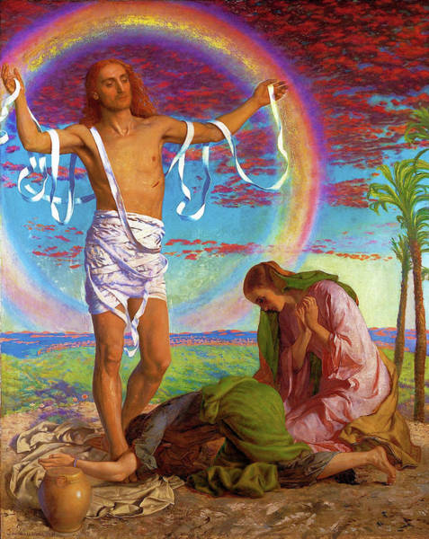 Wall Art - Painting - Christ And The Two Marys - Digital Remastered Edition by William Holman Hunt