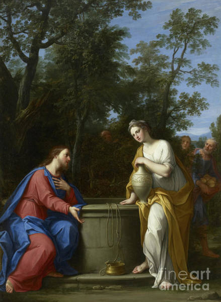 Wall Art - Painting - Christ And The Woman Of Samaria by Marco Antonio Franceschini