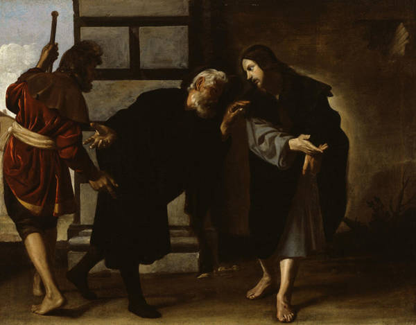 Painting - Christ And Two Followers On The Road To Emmaus by Alonso Cano